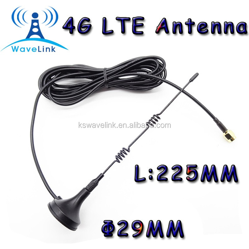 Factory Price 4g LTE Magnetic Mount Based Antenna 698-2700mhz Magnetic Car Antenna With RG174 Cable 3M 5M SMA Connector