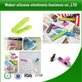 multifunction silicone magnetic clip and band for mobile phone stand earphone winder / bobbin/ cabletwister/ cable tie