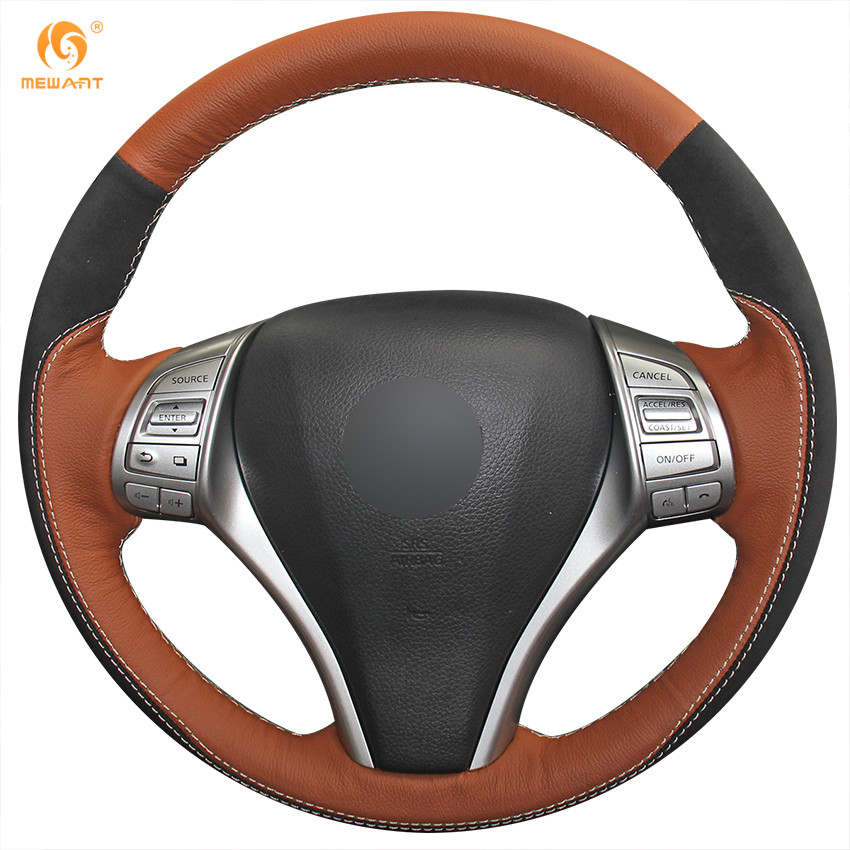 Suede Steering Wheel Cover for Nissan 2013 2014 Teana Altima 2014 2015 X-Trail Rogue