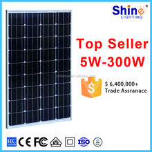 high efficiency 100W monocrystalline solar pv module/ solar panel with CE ROHS