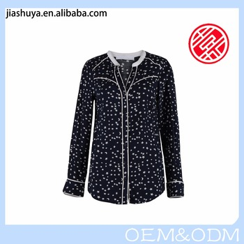 New Fashionable Design European Style Women's Star Pattern Blouses D56