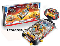 B/O pinball machine games toys, kids pinball play toys with light & music scoreboards, kids indoor pinball play games