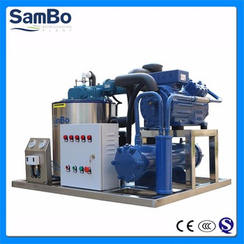 CE Certified 5 Tons Seawater Ice Flake Machine Used On Fishing Boat