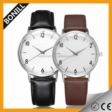 Cute Couple Watches For Lovers Waterproof Leather Strap Alloy Case Japan Movement Quartz Watch