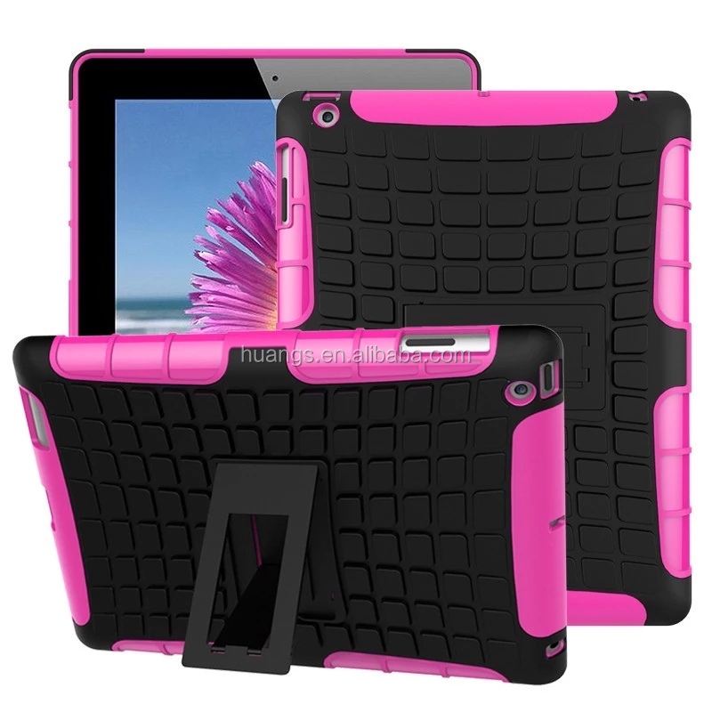 new products 2016 Rugged Hard Robot Back Cover Stand Holder kickstand shockproof case for ipad 2 / 3 / 4 china price