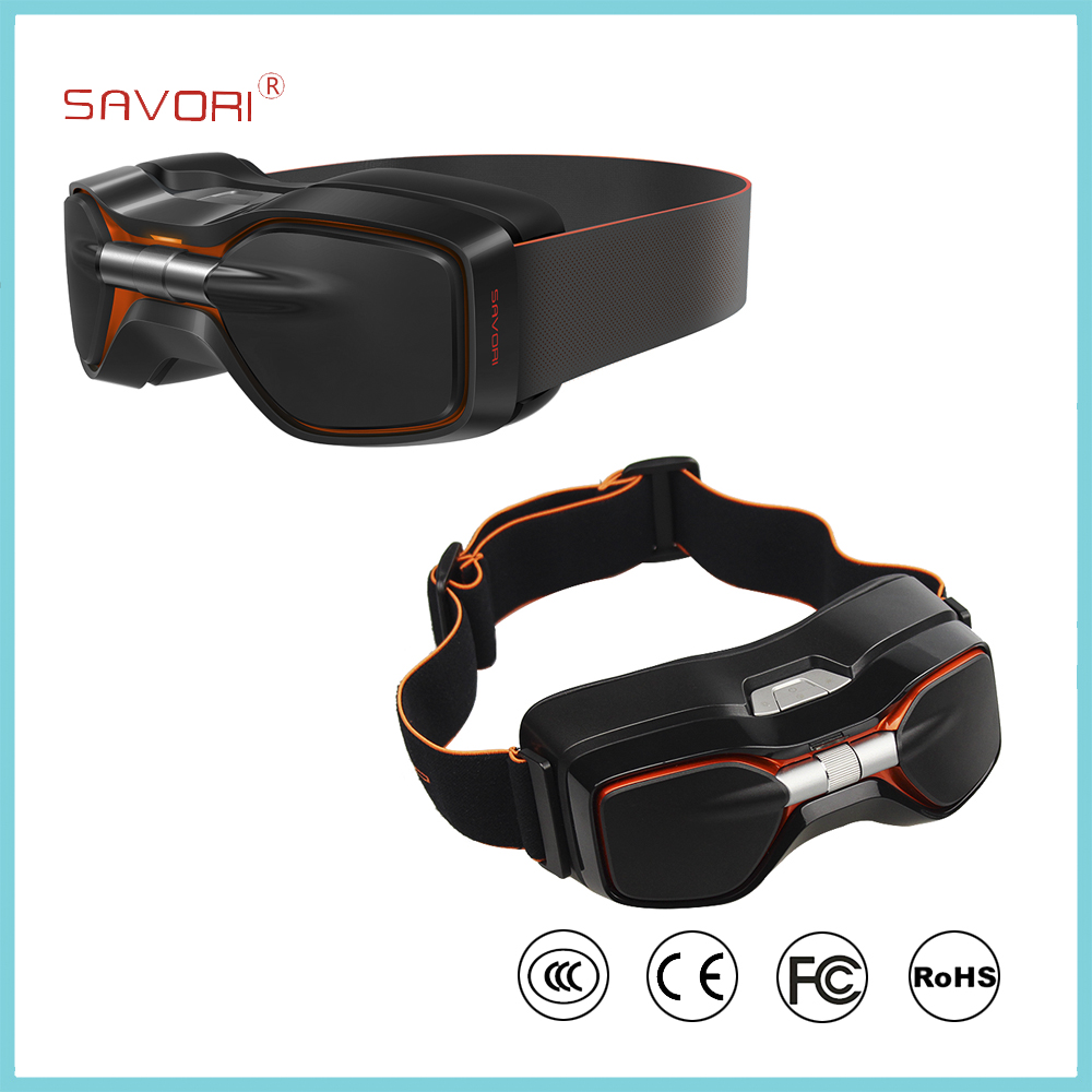 2016 Hottest VR Box 3D Glasses, Plastic VR Headset with AMOLED <strong>Screen</strong> All in One VR