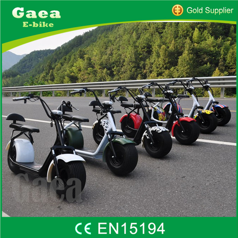 Gaea 1000W electric motorcycle citycoco scooter harley e scooter