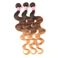 Christmas Promotion Best Discount In The Year High Quality 3 Tone Malaysian Hair Weave, Body Wave Malaysian Hair Bundles