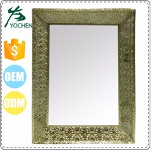 home decor luxury square antique mirror glass decorative items for home
