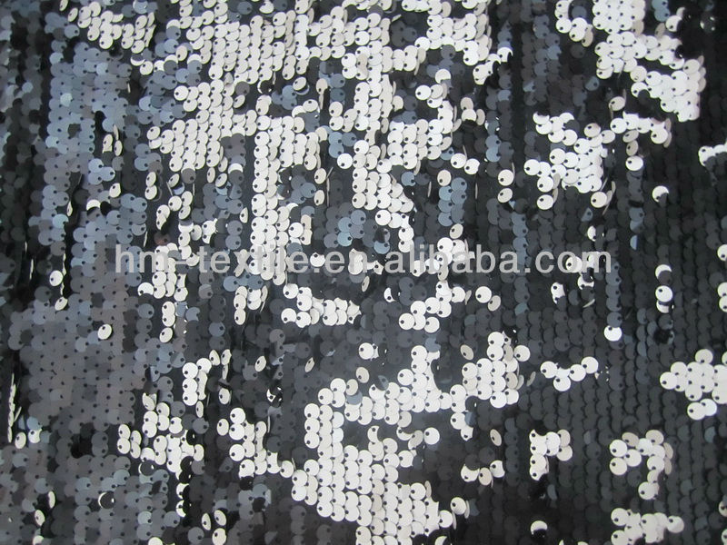 chic round paillette sequin embroidery fabric for dress