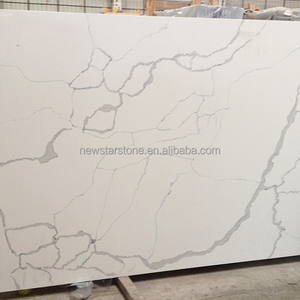 Wholesale Thin Aggregate Syntenic White Largest Size Color Sand Statuary Milky Smokey Ore Calacatta Quartz Slab Good Price