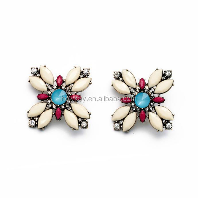 Cute Earrings Colorful Acrylic Embellished Whole Stud Online Ping India Gold Earring Product On