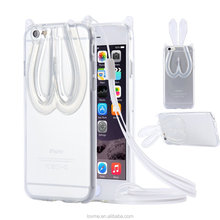 Clear Crystal Tpu Gel Stand With String Case Cover For Apple iPhone 6s