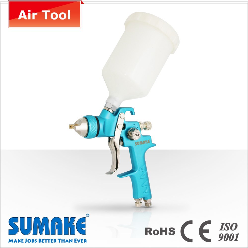 HVLP With 600cc Plastic Cup Gravity Type Air Spray Gun