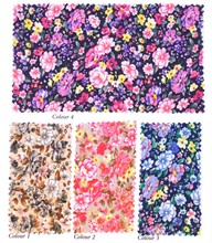 100% Cotton Poplin Customized Floral Printed Fabric for Dress