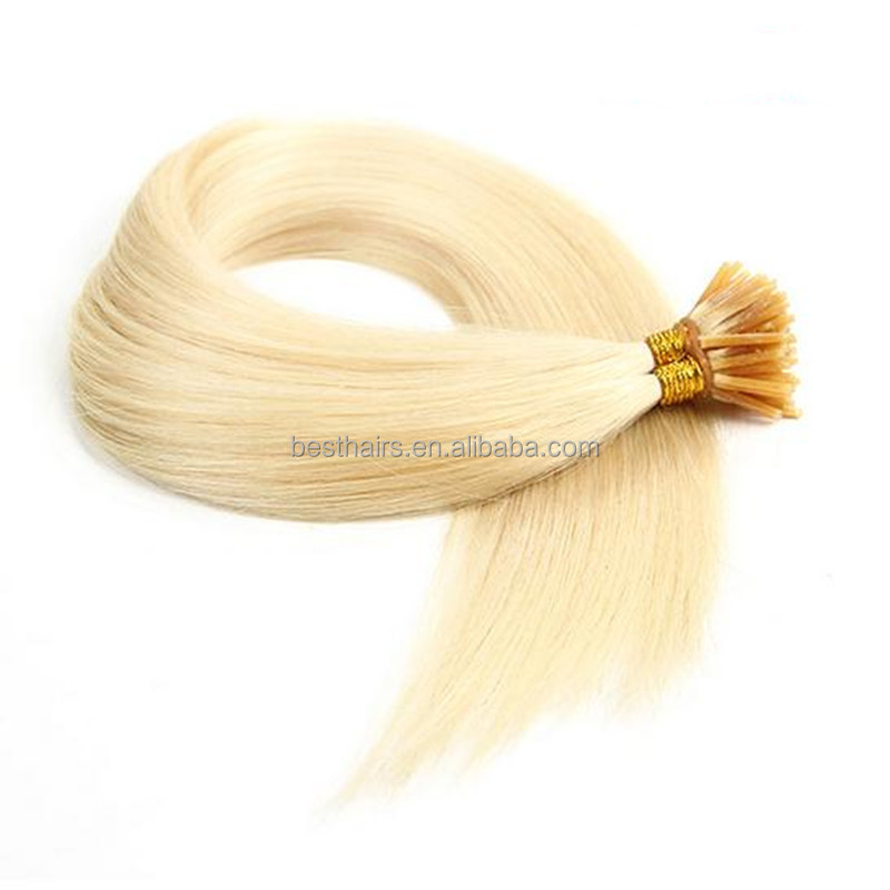 Aliexpress hair human hair Keratin Hair Extension 1g/s 100g/pack Color 613 I Tip Hair Wholesale