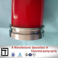 Putzmeister Concrete pump parts DN125 wear-resisting concrete lined pipe