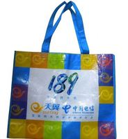 custom eco-friendly laminated metallic non woven bag