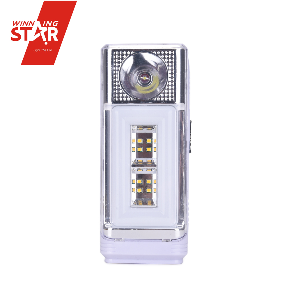Solar emergency light use dry battery three push switch solar led emergency light