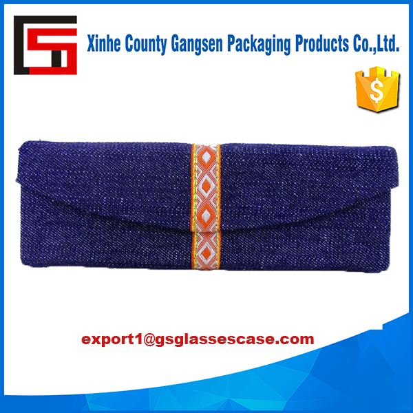 High Quality OEM Denim Jeans glasses case, glasses gift bag