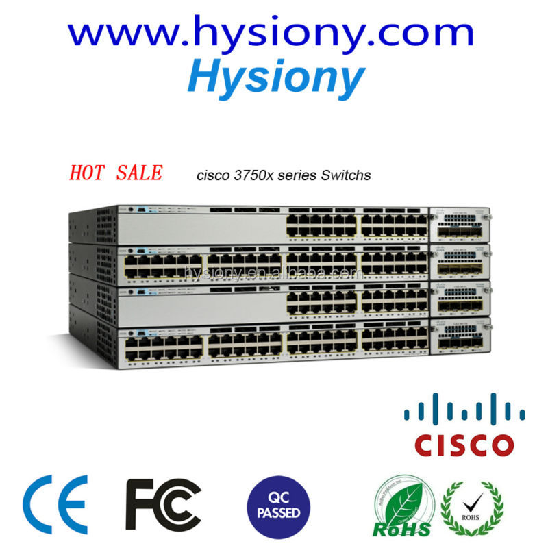 new original Cisco Catalyst 3750-X switches network switch brands WS-C3750X-24T-E Catalyst 3750X 24 Port Data IP Services