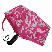 Pink color Aluminium fiberglass frame reflective umbrella