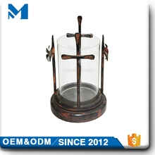Mini Cross Outdoor Metal Ring For Candle Holder