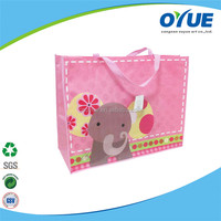Promotional recycle cartoon eco friendly non woven shoulder bag