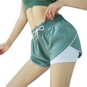 Women Casual Fitness Sportswear Running Yoga Stitching Gym Loose Shorts
