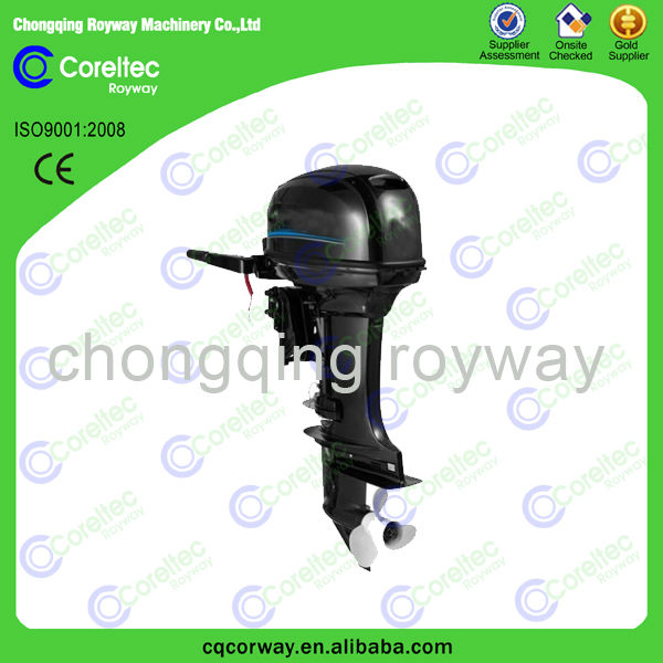 New CE approved manual staring water cooling 4-stroke 2 cylinder 15 hp gasoline outboard engine