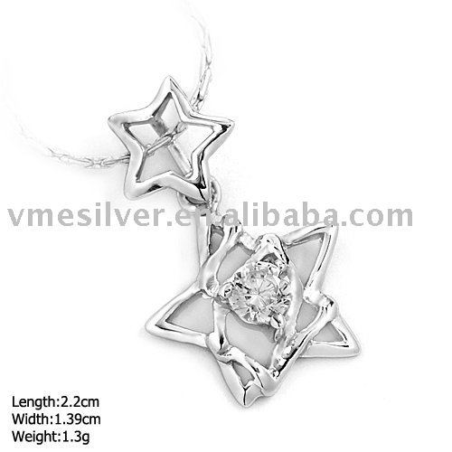 DZ-864 925 Sterling Silver Star Pendant Beautiful Gigt For Girls