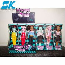 beautiful and cheap plastic doll for grils toy Nice and beautifully plastic doll toys for kid decorations fashion doll