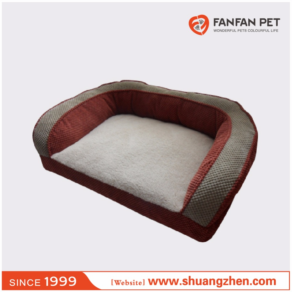 Luxury soft Plush deep seated couch Pet dog bed lounger sofa