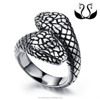 fashion snake ring,china factory ,316L stainless steel jewelry
