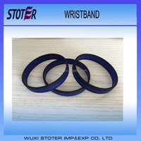 Thin Blue Line Silicone Wristbands,Thin Blue Line Silicone Bracelets,Thin Blue Line Silicone Bangles