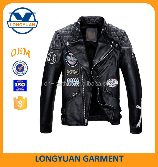 American air force pilot style motorcycle fashion high quality man leather jacket jackrt