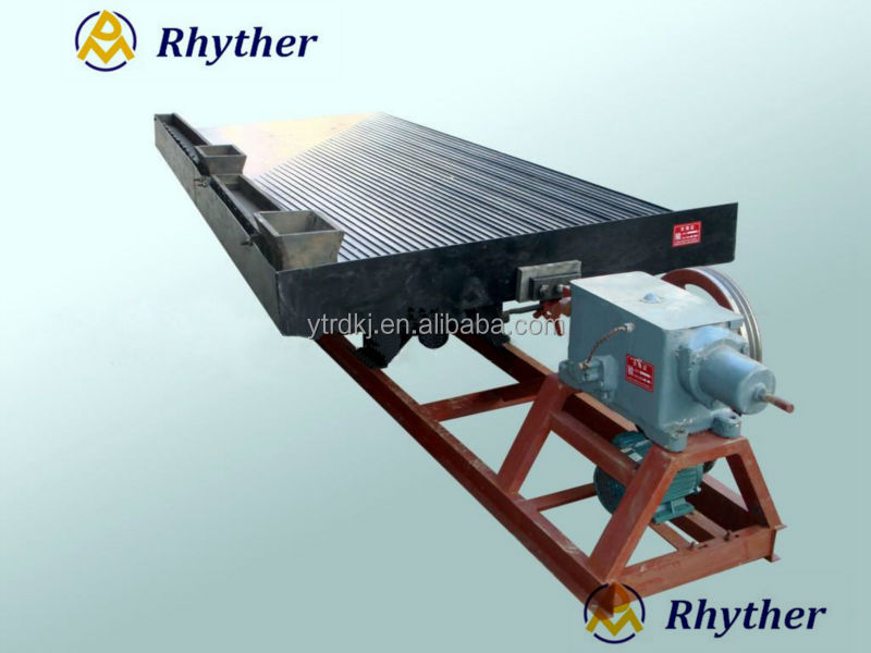 Energy saving machine mining gold shaking table
