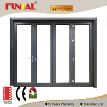 Luxury royal thermal break double glass aluminium folding doors and windows designs