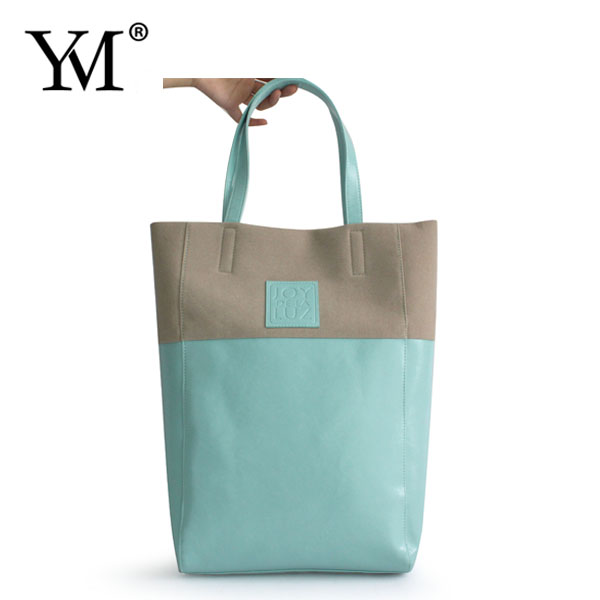 fashion custom logo printing wholesale ladies PVC leather velvet hand pouch tote bag handbag for young girl