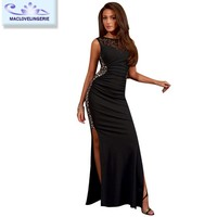 Maclove China Factory New Arrival Wholesales Sexy Hot Style Women Long Dress