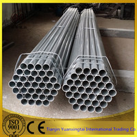 GI HDG Galvanized steel iron tube / pipe from China manufacturer direct supplier