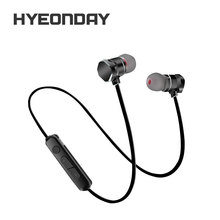 Metal Magnet In-Ear Running Music Bluetooth Headset Sport Mini Bluetooth 4.1 Earphone X3 Headphones For Phone Ipad