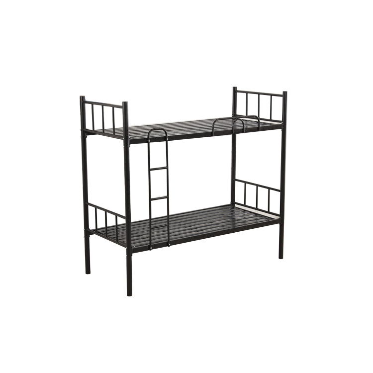 Factory Direct Price High Quality Twin Over Twin School Adult Dormitory Student Hotel Metal Iron Steel Double Bunk Bed For Sale