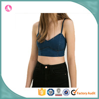ladies camisole crop top with built in bra for sexy ladies