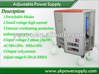 adjustable low voltage and high current ac-dc power supply design