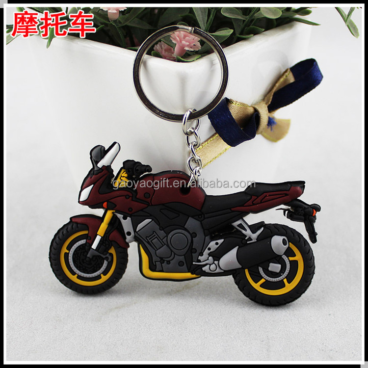 High Quality Motorcycle Shape Design Custom Soft Pvc Keychain Wholesale