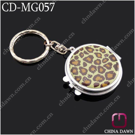 Promotional Square shaped pocket mirror keychain CD-MG056