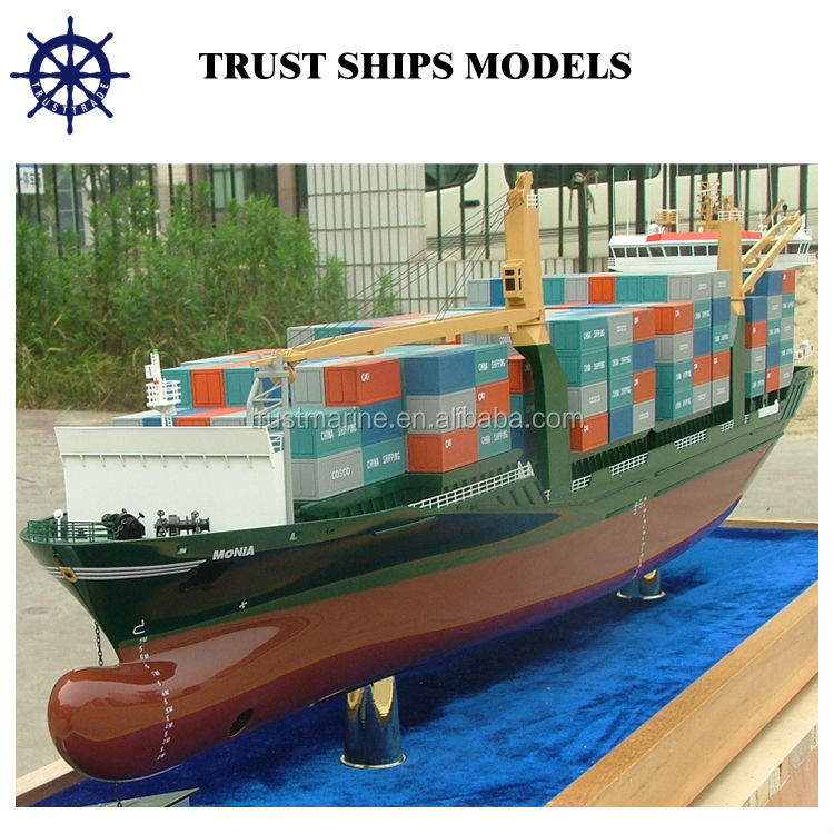 Miniature container Ship Model