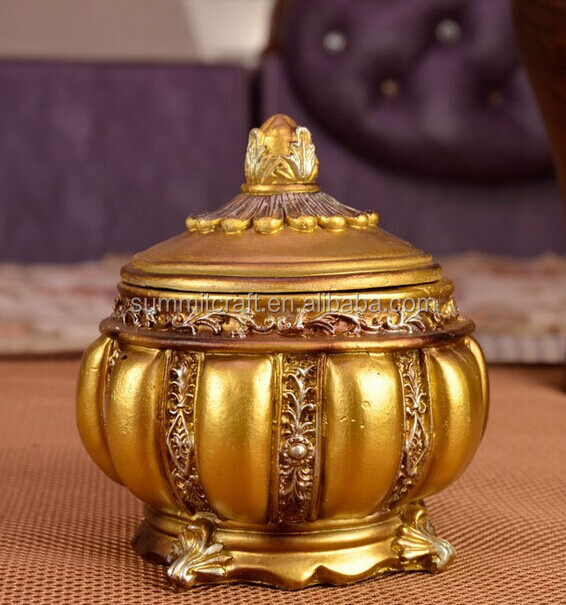 Golden Classic Series resin wholesale trinket box from india
