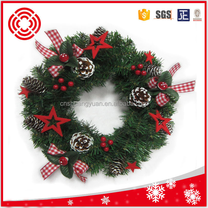 Decorated pvc christmas wreath